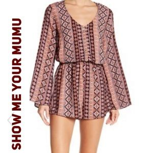 Show me Your MuMu Red rocks bell sleeve romper
